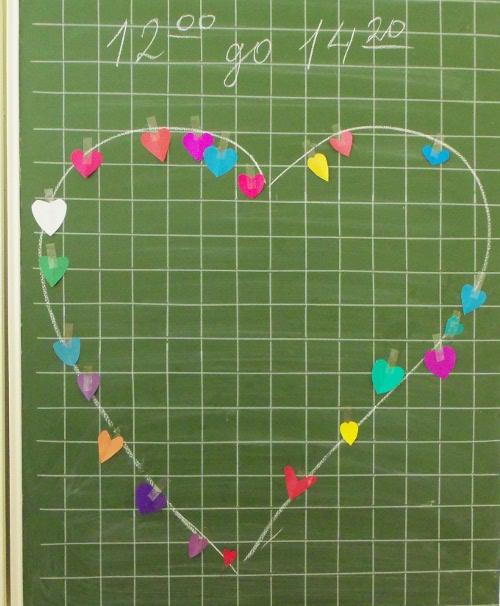 сердце на школьной доске