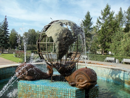 фонтан земля на трех китах