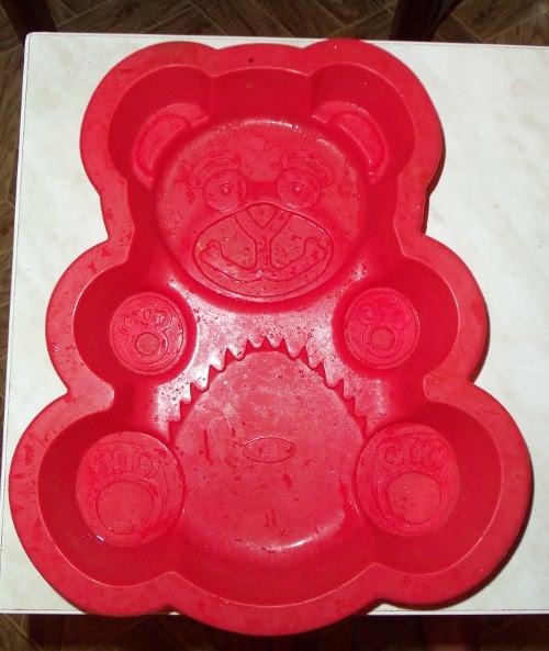 силиконовая форма медведь