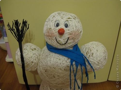 снеговик нитки