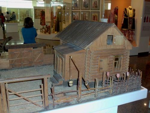 макет крестьянского двора