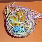 яйца из папье-маше роспись акриловыми красками