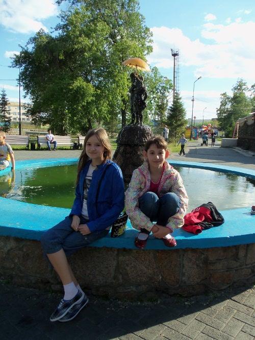 в горсаду пушкина у фонтана