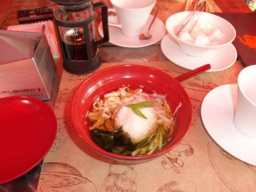 рисовый суп с мясом снежного краба