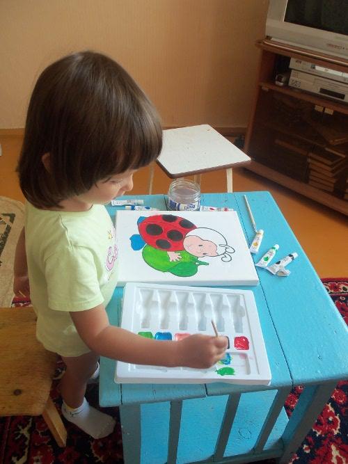 ребенок акриловые краски