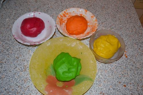 цветное песочное тесто