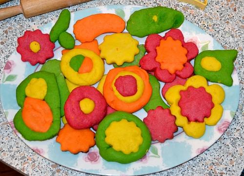 печенье цветное песочное