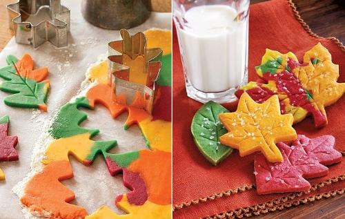 печенье осенние листья
