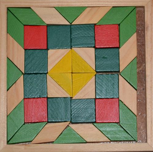 узор мозаика деревянная