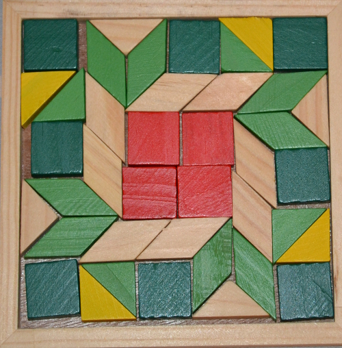 мозаика маленькая деревянная