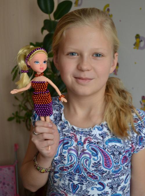платье для куклы из неокуба