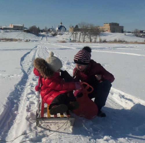 озеро еткуль зима