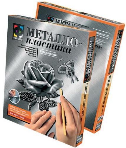 металлопластика барельеф роза