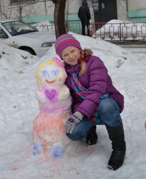 цветной снеговик 2