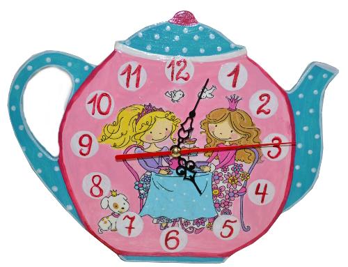 часы детские декупаж