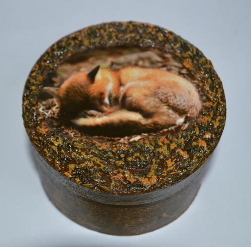 шкатулка с лисенком 2