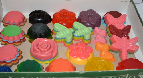 цветное мыло фигурки