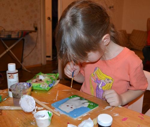 дети акриловые краски