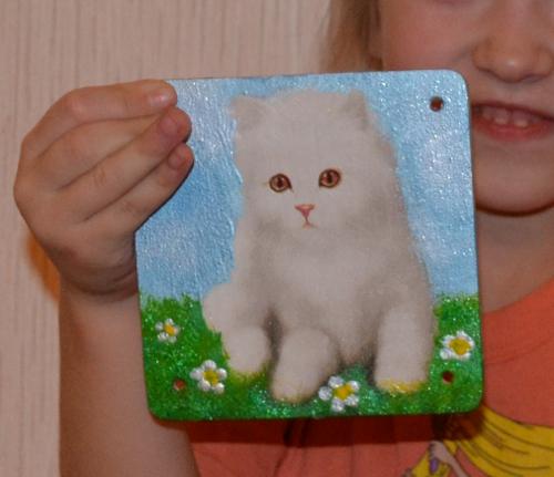 панно котенок