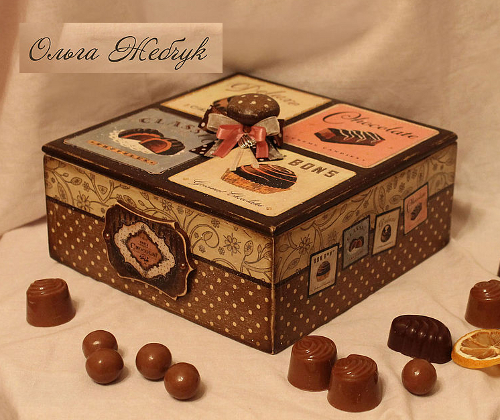 коробка для конфет ольга жебчук