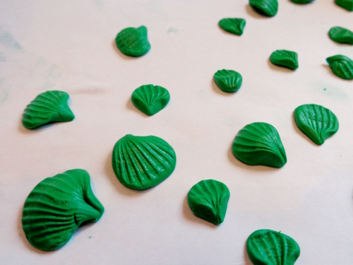 ракушки из полимерной глины