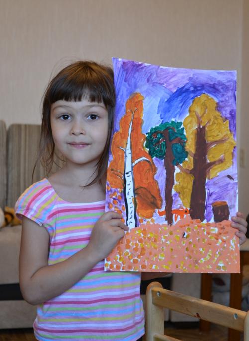 детская картина осень