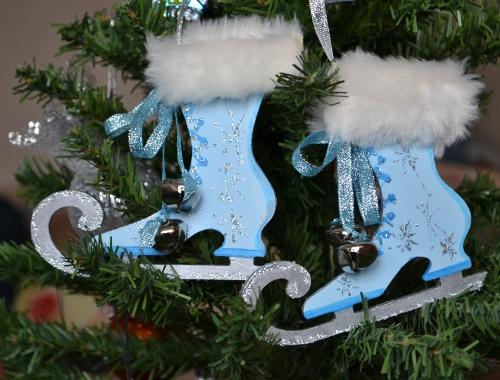 коньки на елку хрустальная паста