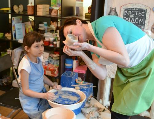 миска на гончарном круге