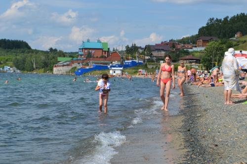 пляж тургояк