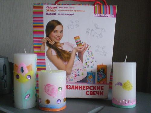 свечи для раскрашивания