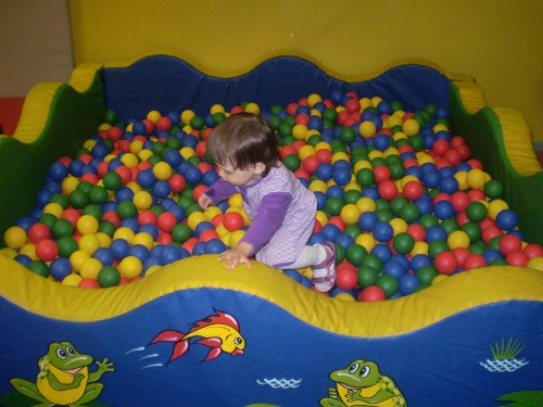 бассейн с шариками куба