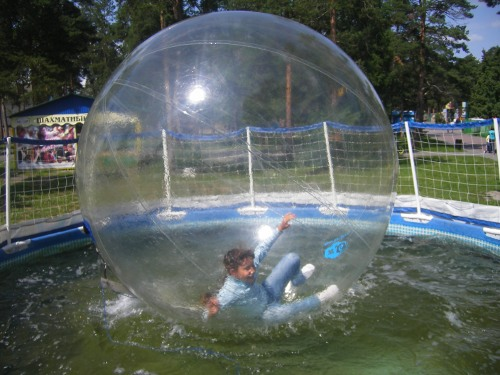 первые шаги в водном шаре